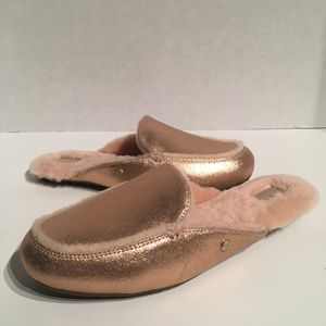 Ugg Lane Metallic Rose Gold Slip On Loafer